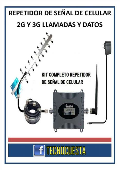 REPETIDOR DE SEÑAL DE CELULAR 2G 3G LLAMADAS Y DATOS MOVILES