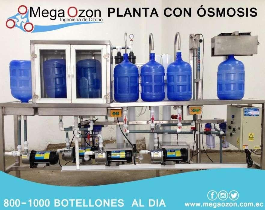 Planta llenadora de 800 botellones al día