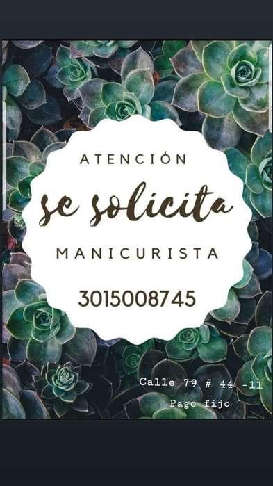 Peluquería Solicita Manicurista- Urgente