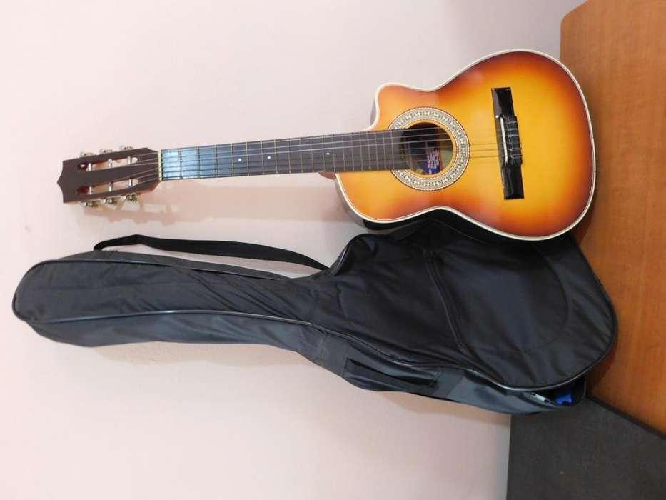 Guitarra Acústica Junior - Corte Cutaway Funda