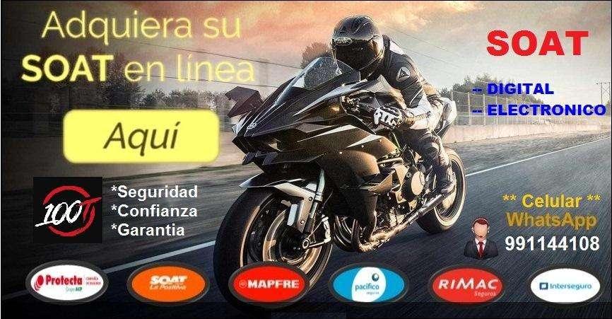 Soat Para Moto Lineal, Automática, Scooter. Tramitamos Licencias De Moto