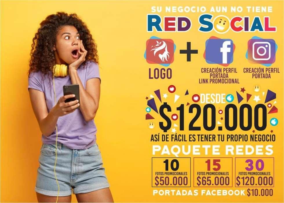 Logos empresas negocios personales publicidad redes sociales