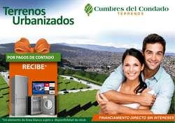 Terrenos de venta Norte de Quito metraje desde 200 hasta 300 metros