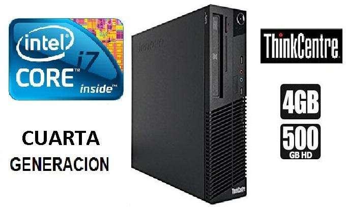 CPU CORE I7 4TA. CUARTA GENE. RAM 4 GB /HDD 500GB/SOMOS TIENDA