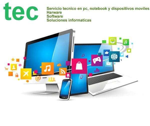 Servicio tecnico pcs, notebook y dispositivos moviles