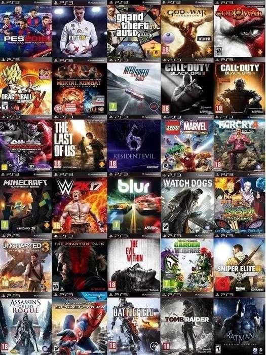 Juegos PS3 50.000 MAX 90.000