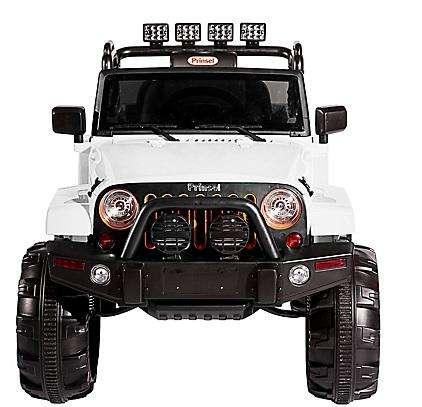 Carro eléctrico para niños Jeep Renegado blanco