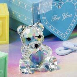 Recordatorios Osito De Cristal Baby Shower Bautizo CumpleañoS