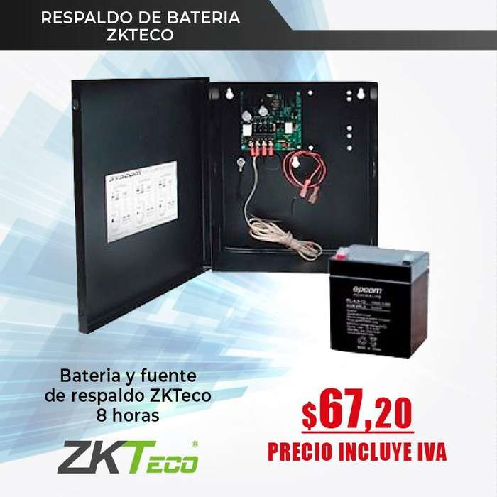 RESPALDO DE <strong>bateria</strong>-KIT RESPALDO DE <strong>bateria</strong> ZKTECO-FUENTE 12V 4 A