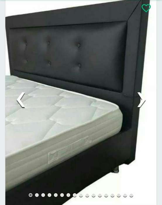 super combos en promoción base camas, colchones,cabeceros,salas, comedores