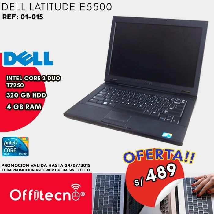 LAPTOP DELL LATITUDE E5500, INTEL CORE 2 DUO, 4 GB DDR2, 320 GB HDD