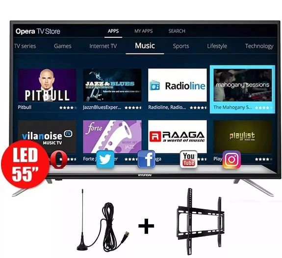 Hyundai Televisor Smart 4k 55 Android Gratis Soporte Antena