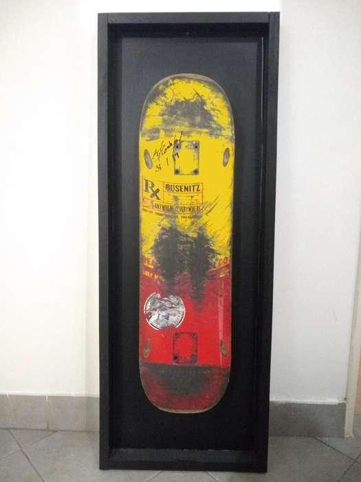 Tabla Skateboard Autografiada