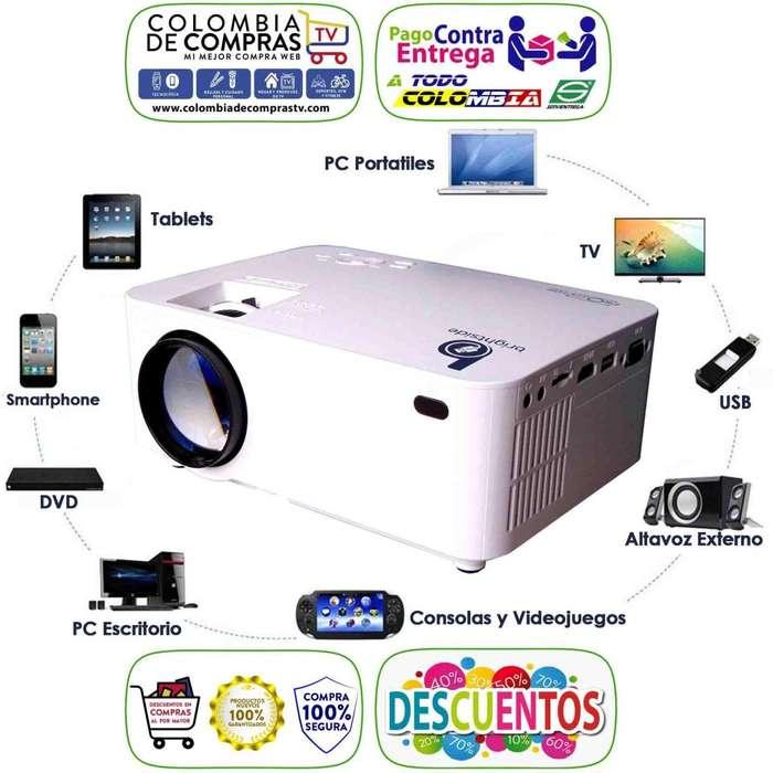Proyector Video Beam 1500 Lumenes Multimedia Full Hd/Tv, Nuevos, Originales, Garantizados...