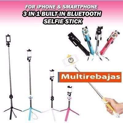multirebajas, Baston Monopod Selfie Stick Trípode Control Bluethoo, on line