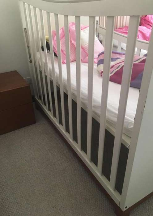 Infantil, cama <strong>cuna</strong> color blanco