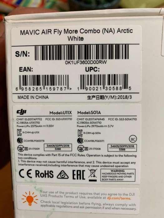 Drone Dji Mavic Air Combo Blanco