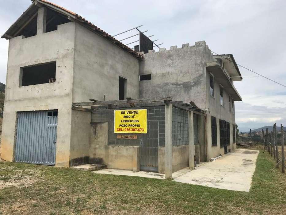 Vendo Terreno con 2 Edificios. Área 5000m2 Jesus Cajamarca
