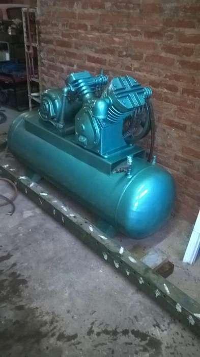 compresor 5.5 hp alta baja muy bueno !!
