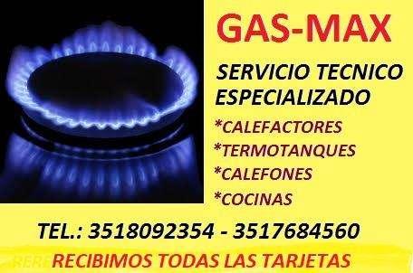 GAS MAX -SERVICE DE ARTEFACTOS A GAS