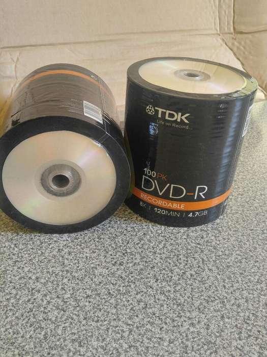 Dvd Virgen Bulk X 100 Tdkr 8x 4.7 Gb