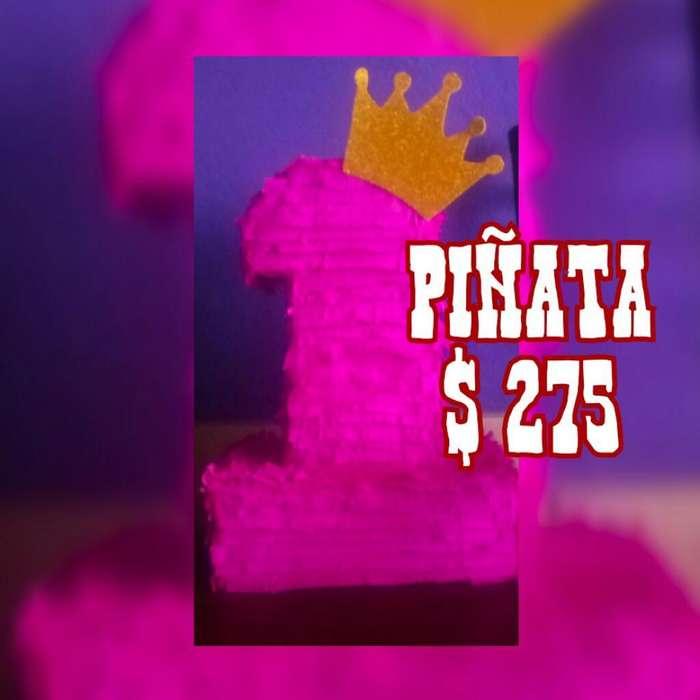 Piñata Numero Y Cotillon
