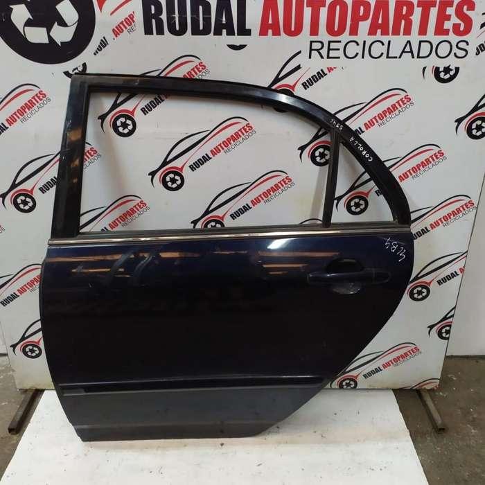 Puerta Trasera Izquierda Toyota Corolla 6175 Oblea:01675346