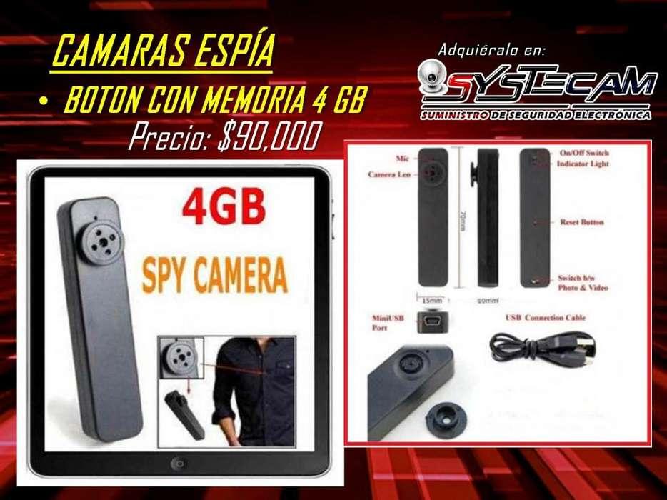 Camara boton espia oculta de 4 GB internos graba audio video y fotos