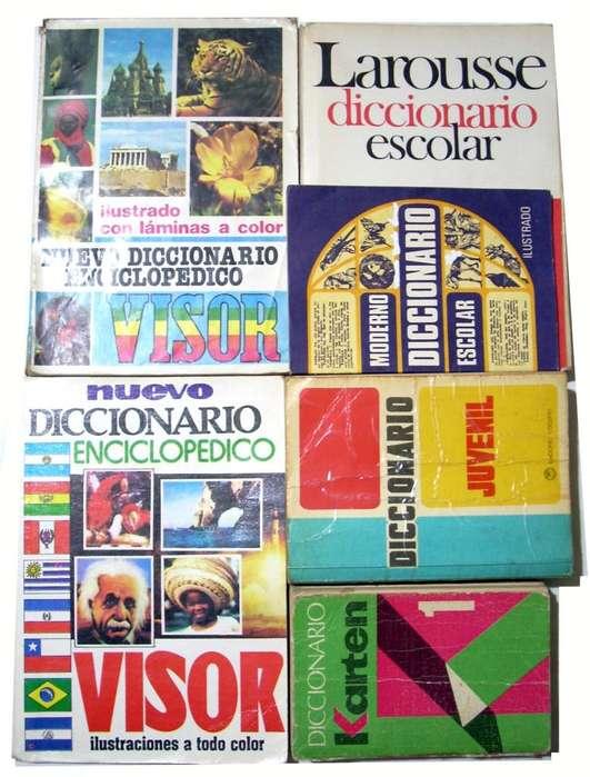 Lote De Diccionarios Antiguos Karten Larousse Visor Juvenil