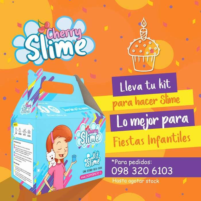 Cherry Slime- Kit para Hacer Slime