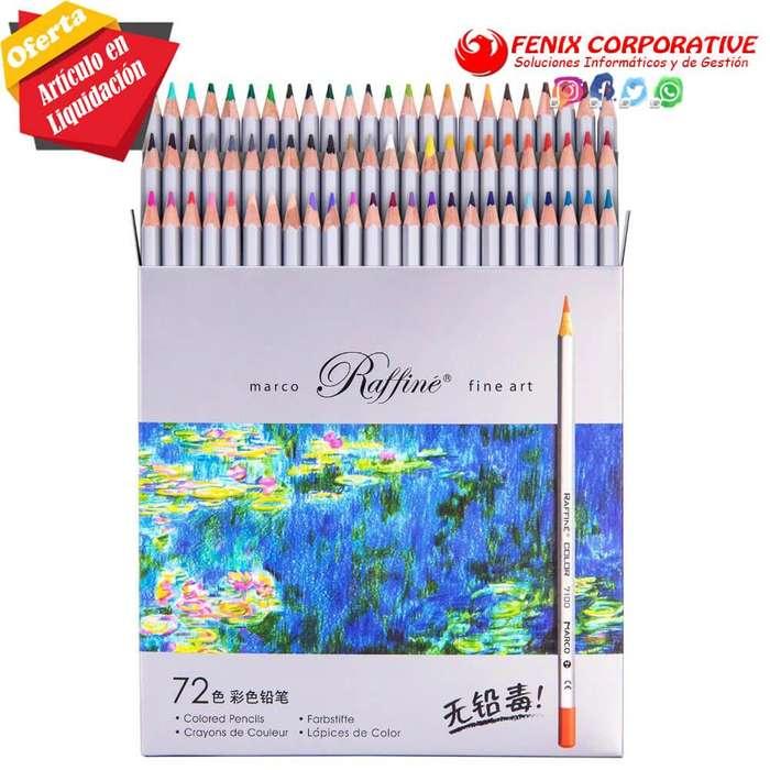 Colores Marco Raffine Arte Fino 72 lápices de colores 7100-72CB