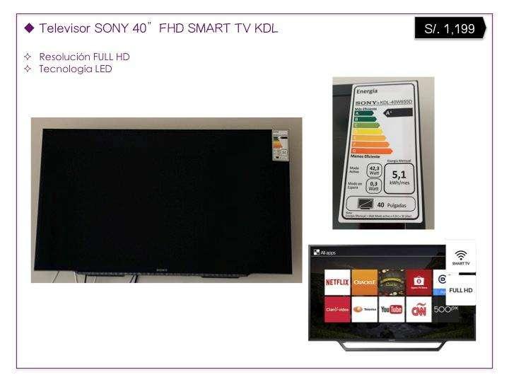 "Televisor SONY 40""FHD SMART TV - VENTA POR MUDANZA"