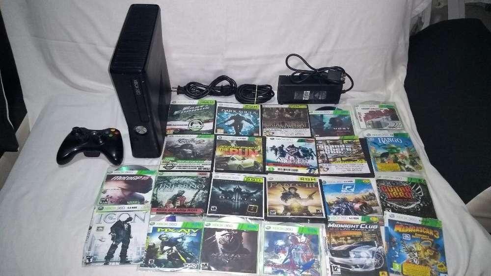 Xbox 360,22 Juegos Y Un Control