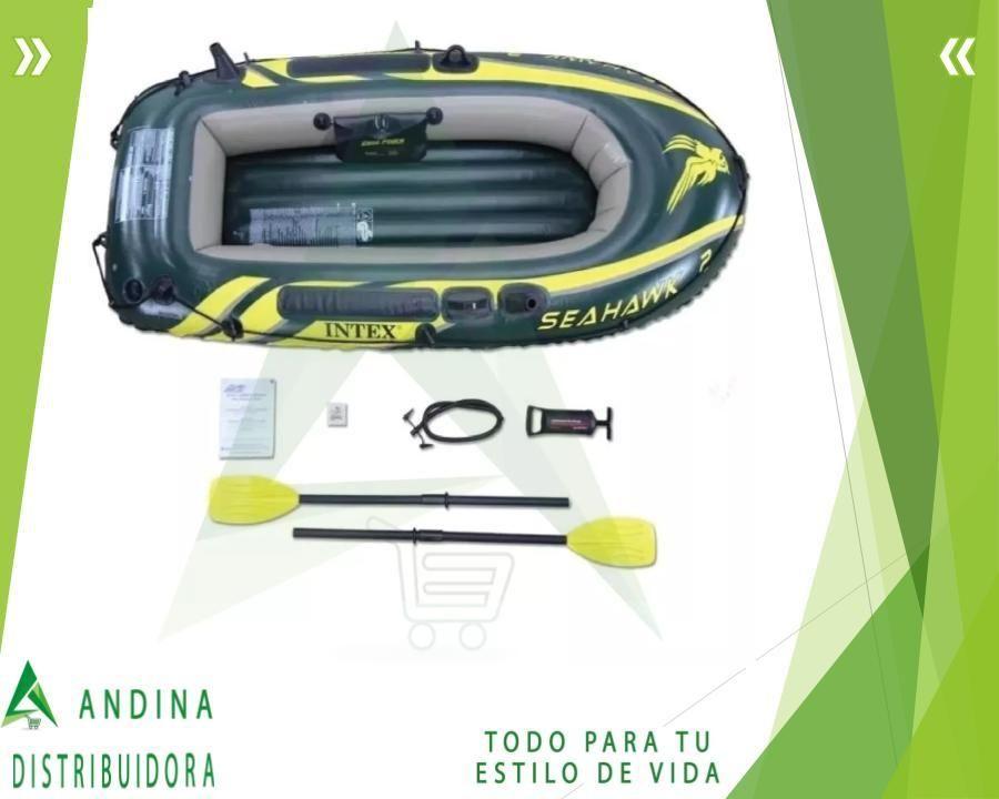Bote Inflable Intex Seahawk 2 Con Remos Y Bomba