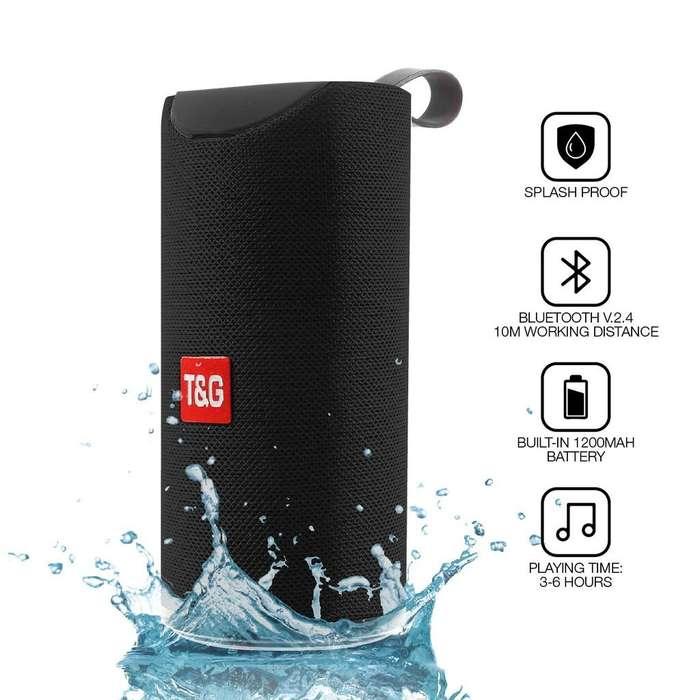 Parlante Bluetooth Portable Tg113 Tarjeta Tf Hifi Usb Negro