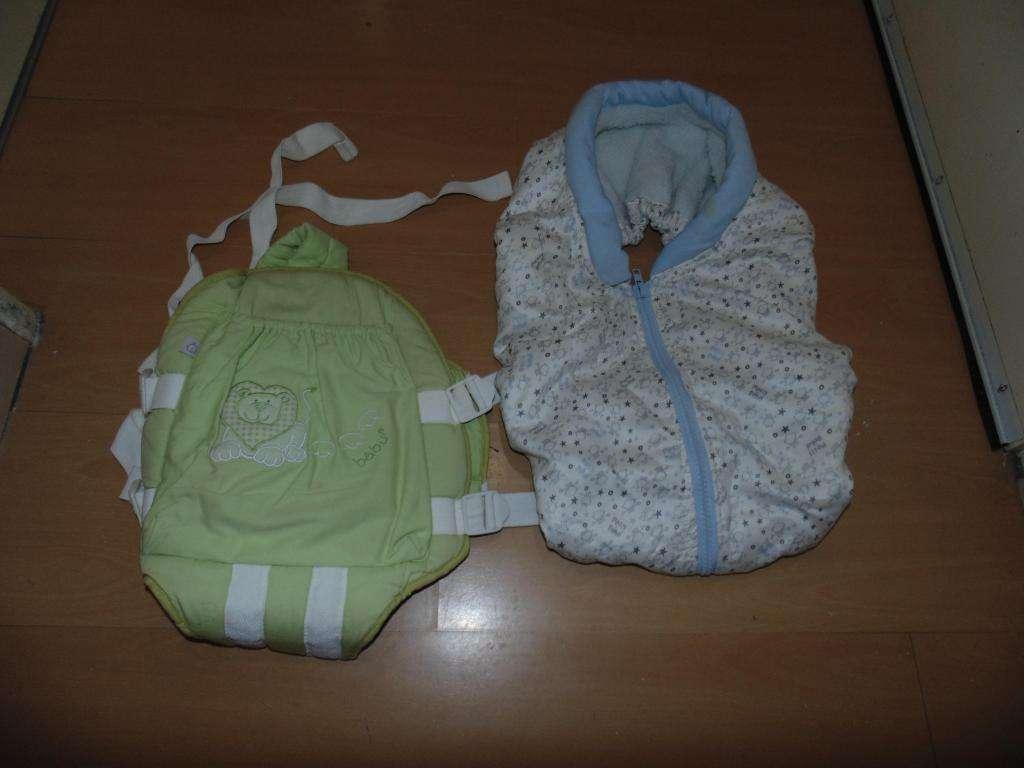 Mochila para llevar bebe y cubre huevito de abrigo super calentito adaptable