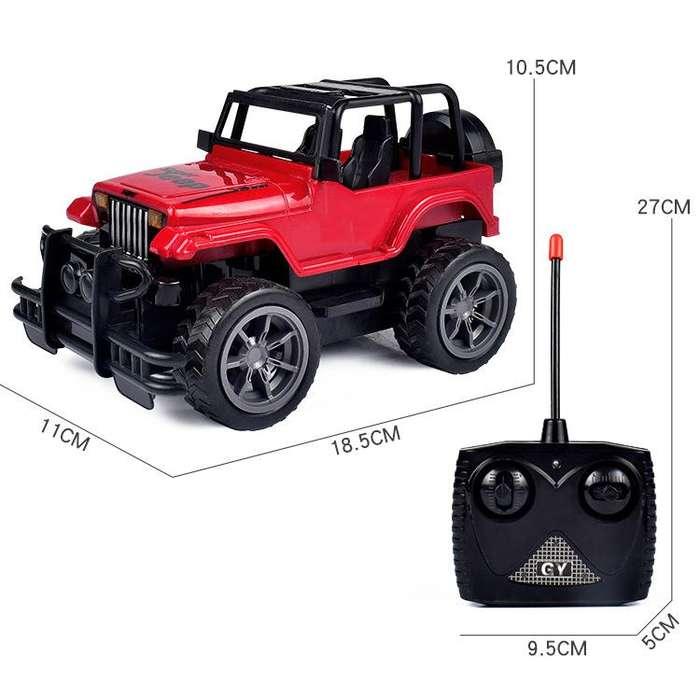 Carro Jeep control remoto con luces juguete niños Nuevo