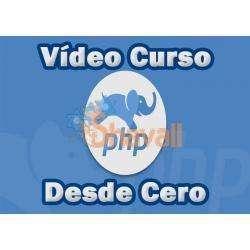 Vídeo Curso PHP Profesional de Básico a Avanzado desde Cero Referencia SKU: 965