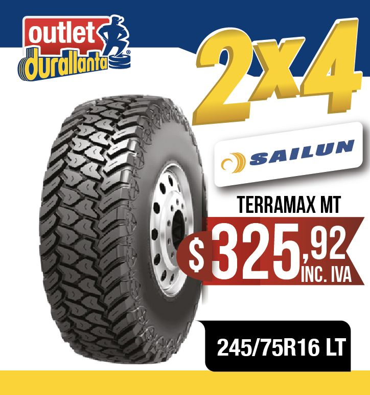 LLANTAS 245/75R16 LT SAILUN TERRAMAX MT LUV D-MAX