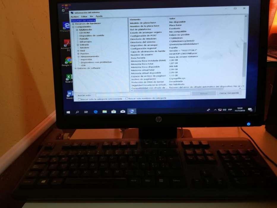 Vendo Computadora Desktop Hp