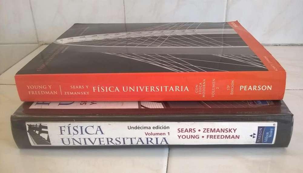 Libros Física Universitaria Sears / Zemansky 1 y 2