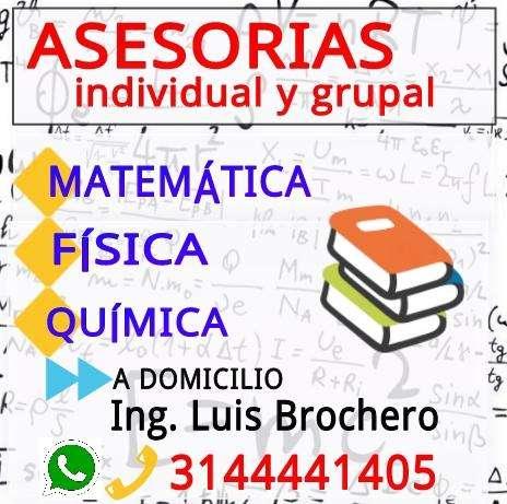 ASESORIAS A DOMICILIO QUIMICA FISICA Y MATEMATICA EN BOGOTA