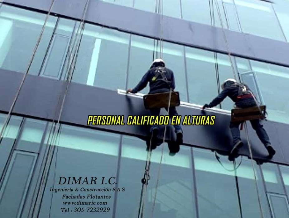 FACHADAS, FACHADAS FLOTANTES, MANTENIMIENTO , ALUCOBOND, PINTURA ELECTROSTATICA