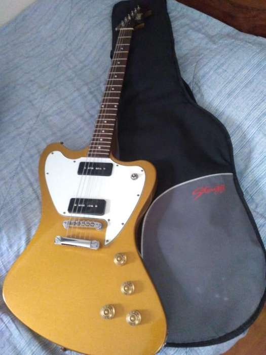guitarra electrica eastwood stormbird gold