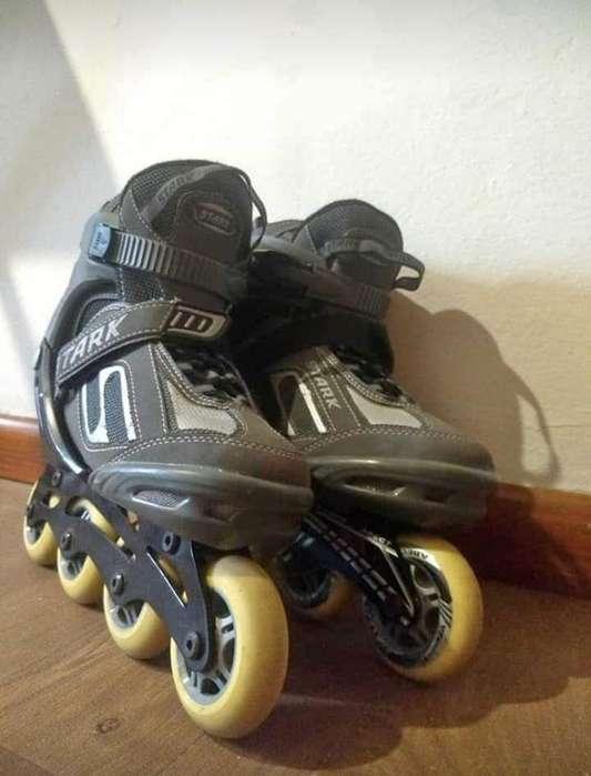 Rollers Stark Abec 7 Gris C/negro