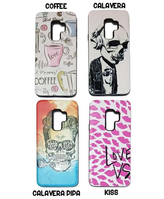 Funda Samsung S9 Plus Rígida Anti Golpes Diseño CALAVERA COFFEE KISS