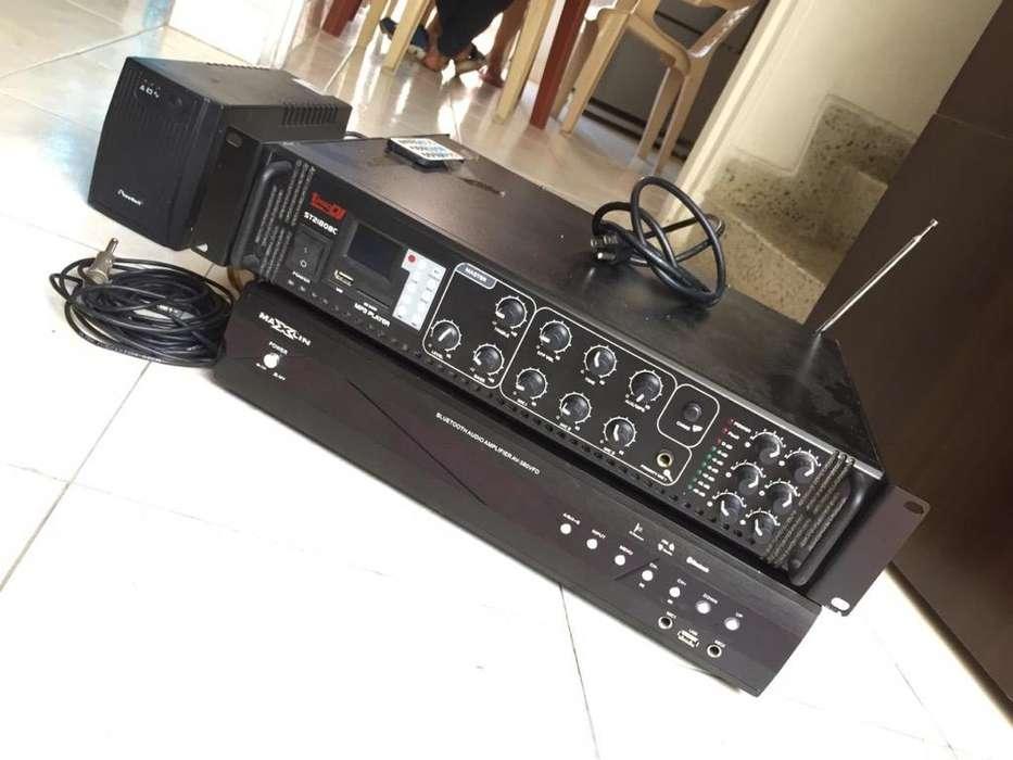 Planta Sonido Amplificador Pro Dj