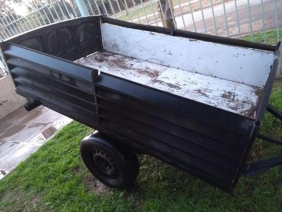Carro trailer, dos ruedas, 9 elásticos