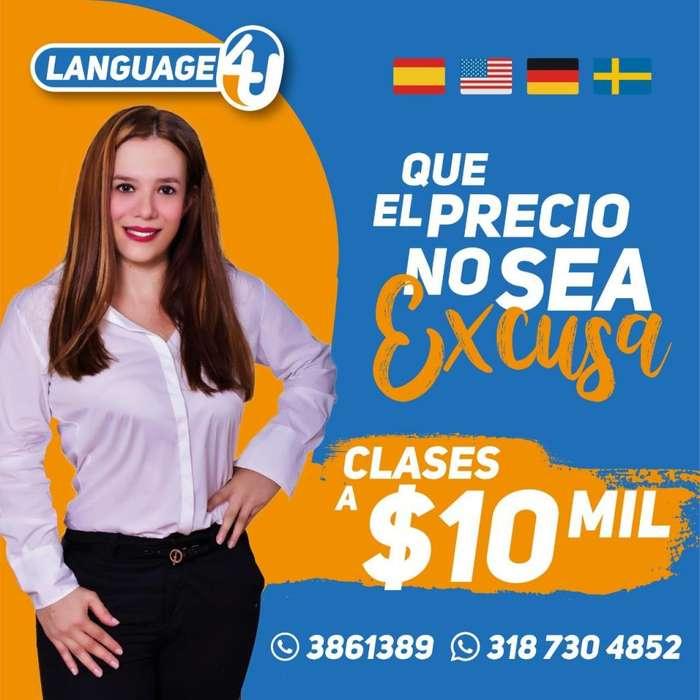 MEGA PROMOCIÓN CLASES DE IDIOMAS A 10 MIL PESOS