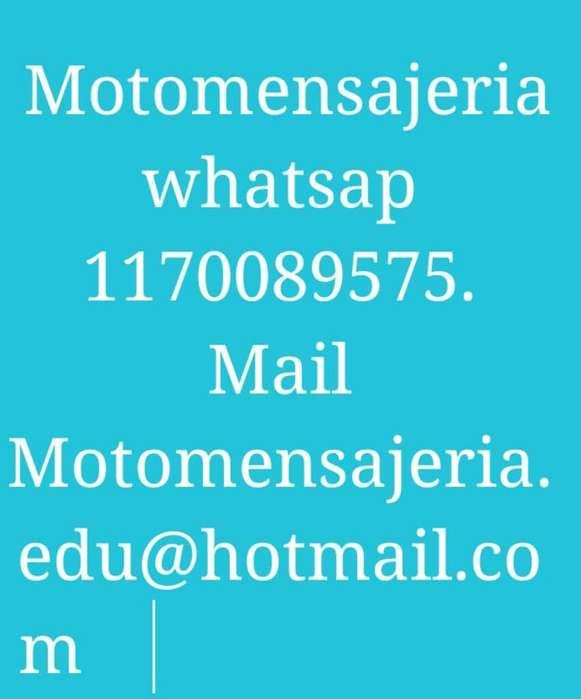Moto <strong>mensajeria</strong>